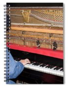 Antique Playtone Piano Spiral Notebook