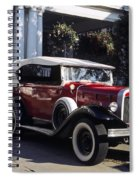 Antique Red Convertible Spiral Notebook