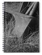 Antique Tractor Bucket In Black And White Spiral Notebook