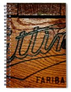 Antique Wooden Cart Spiral Notebook
