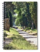Appian Way In Rome Spiral Notebook