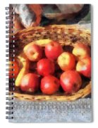 Apples And Bananas In Basket Spiral Notebook