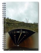 Approaching A Tunnel On A Highway In England Spiral Notebook