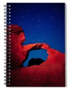 Arch In Red And Blue Spiral Notebook