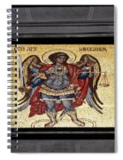 Archangel Michael Mosaic Spiral Notebook