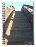 Arched Pedestrian Bridge At Martinez Regional Shoreline Park In Martinez California . 7d10525 Spiral Notebook