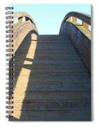 Arched Pedestrian Bridge At Martinez Regional Shoreline Park In Martinez California . 7d10526 Spiral Notebook