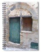 Arched Stone Work Over Door Spiral Notebook
