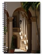 Arches And Columns At The Biltmore Hotel Spiral Notebook