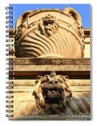 Architectural Detail . Large Urn With Lion Gargoyle  . Hearst Gym . Uc Berkeley . 7d10191 Spiral Notebook