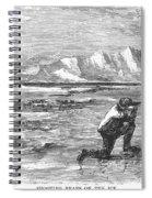 Arctic: Bear Hunting, 1871 Spiral Notebook