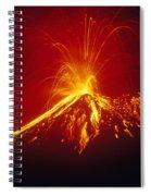Arenal Volcano Erupting Spiral Notebook