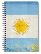 Argentina Flag Spiral Notebook