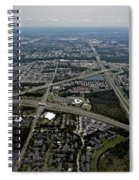 Ariel View Of Orlando Florida Spiral Notebook