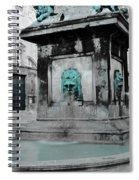 Arles Fountain With A Spot Of Color Spiral Notebook