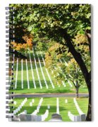 Arlington National Cemetery In The Fall  Spiral Notebook