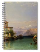 Arona And The Castle Of Angera Lake Maggiore Spiral Notebook
