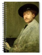 Arrangement In Grey - Portrait Of The Painter Spiral Notebook