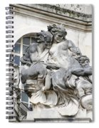 Art Gallery Statue In Cardiffs Spiral Notebook