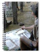 Artist At Ankor Wat Spiral Notebook