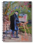 Artiste At Luxembourg Gardens Spiral Notebook