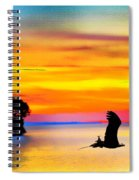 Artistic Conception Eagle Sundown Spiral Notebook