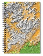 Artistic Map Of Southern Appalachia Spiral Notebook
