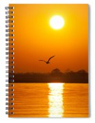 As The Seagull Heads Home Spiral Notebook
