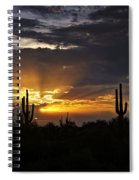 As The Sun Sets In The West  Spiral Notebook