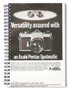 Asahi Pentax Spotmatic Spiral Notebook