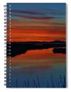 Assateague Bayside Sunset Spiral Notebook