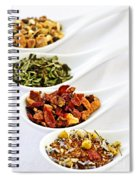 Assorted Herbal Wellness Dry Tea In Spoons Spiral Notebook