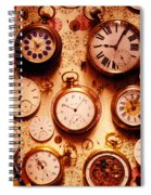 Assorted Watches On Time Chart Spiral Notebook