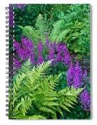 Astilbe And Ferns Spiral Notebook