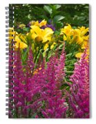 Astilbe And Lilies Spiral Notebook