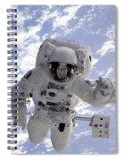 Astronaut Gernhardt On Robot Arm Spiral Notebook