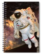 Astronaut In A Space Suit Spiral Notebook