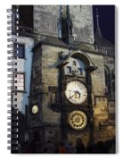 Astronomical Clock At Night Spiral Notebook