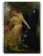 At The First Touch Of Winter Summer Fades Away Spiral Notebook