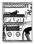 Athenian Chariot Spiral Notebook