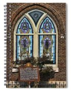Athens Alabama First Presbyterian Church Stained Glass Window Spiral Notebook