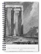 Athens: Olympian Zeus Spiral Notebook