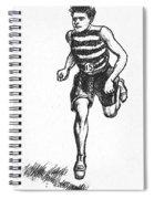 Athletics: Runner, C1900 Spiral Notebook