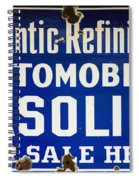 Atlantic Refining Co Sign Spiral Notebook