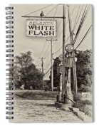 Atlantic White Flash Spiral Notebook