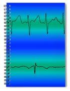 Atrial Fibrillation & Normal Heart Beat Spiral Notebook