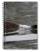 Attack Of The Canadian Geese Spiral Notebook