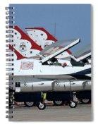 Attention Thunderbirds Spiral Notebook