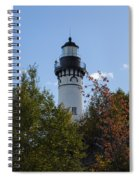 Au Sable Lighthouse 8 Spiral Notebook