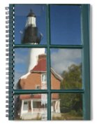 Au Sable Lighthouse Abstract 1 Spiral Notebook